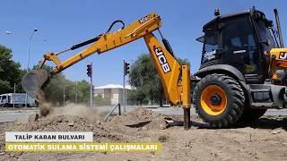 Erzincan Belediyesi Talip Kaban Bulvarı Otomatik Suılama Çalışmaları