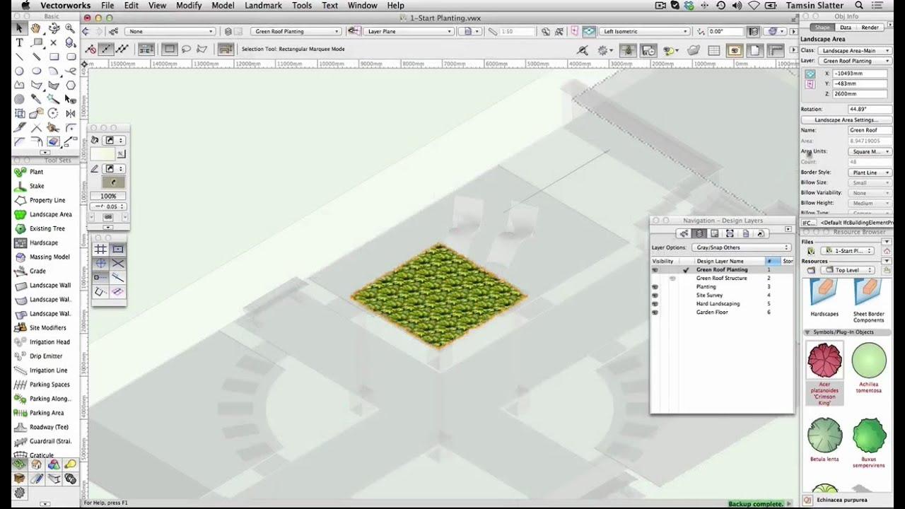 Vectorworks 2017 - Site Design - Create Landscape Area ...