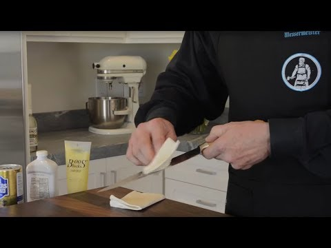 Messermeister: How-To Care For Your Knives with Raw Wood Handles