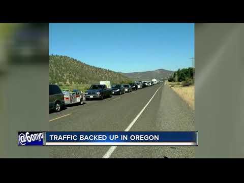 Oregon Eclipse traffic already bad