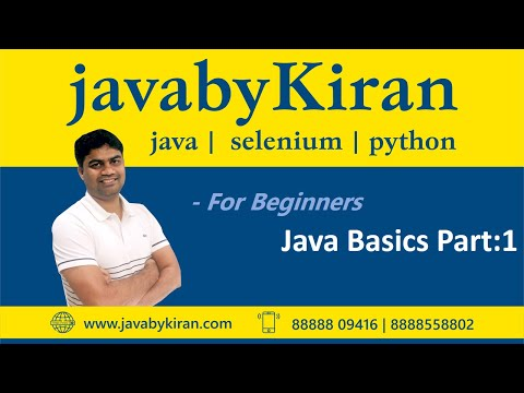 Java Basics Part:1-By Kiran Sir-JAVA By Kiran,Pune