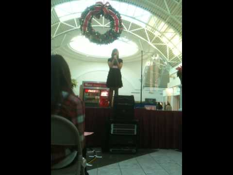 Cecilia singing at South Park Mall - December 6, 2...