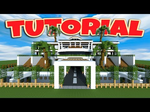 Minecraft: How To Build a Large Modern House Tutorial (Minecraft Modern Mansion) 2018