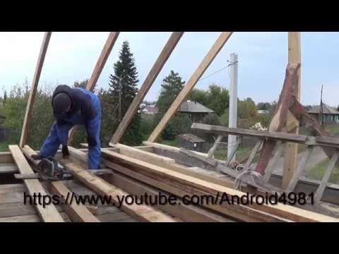 Обрешетка крыши под профнастил