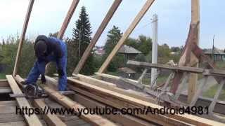 Обрешетка крыши под профнастил(Как самому смонтировать обрешеткуна крыше под металлопрофиль ЧАСТЬ1 ВСЕМ ПРИВЕТ!!! меня зовут НАРОДНЫЙ..., 2014-10-15T05:16:07.000Z)