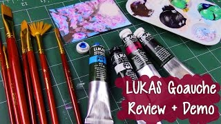 LUKAS GOUACHE ~ Art Supply Review + Demonstration ~ Gouache Illustration