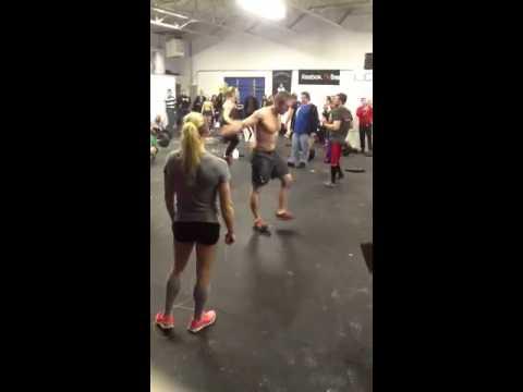 Rachel Goldenberg and Paul Connor double unders & deadlift