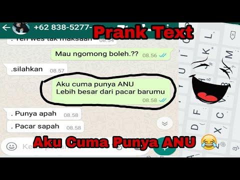 Aku Cuma Punya ANU Wkwkwk    Prank Text