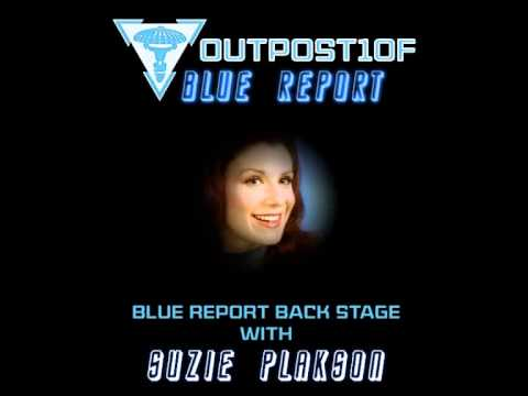 Blue Report Back Stage with Suzie Plakson