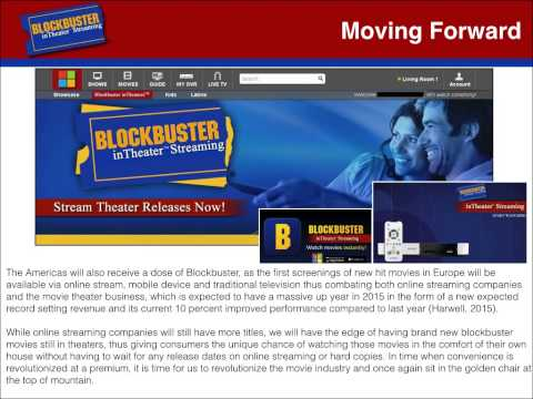 Final Presentation - Blockbuster inTheater Streaming