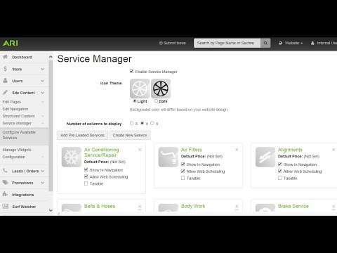 ARI Command Center | Service Manager / Appointment Scheduler