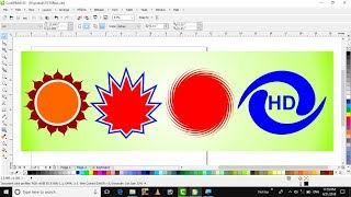 Learn CorelDraw in hindi tutorial 21 distortion tool & distort tool  in corel draw