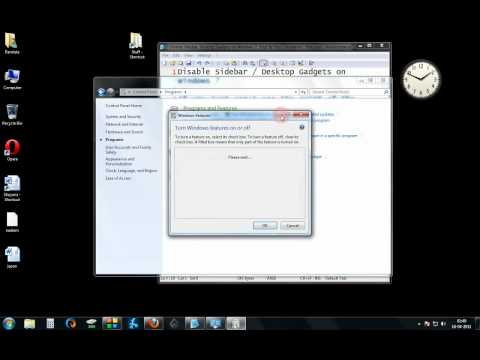 Disable Sidebar  Desktop Gadgets On Windows 7  Step By Step Tutorial.avi