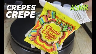 ASMR CHUPA CHUPS CREPES - How to Make Chupa Chup Crepe - ASMR No Talking