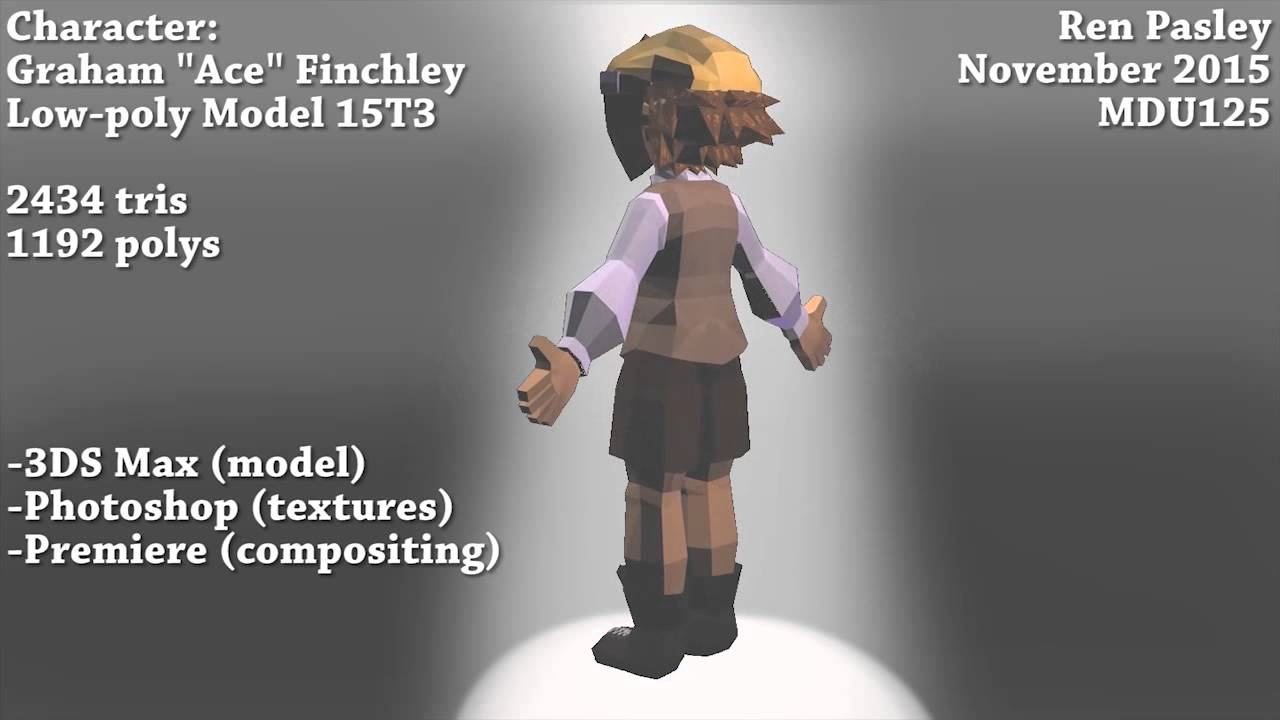 MDU125 3D Character Turnaround - Assignment  Music: Undertale OST - Core