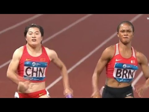 Woman's 4x100m Final Asian Games 2018 Jakarta-Palembang
