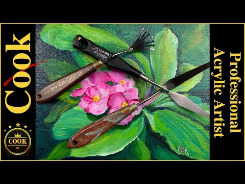 Cozumel Orchid  Palette Knife Acrylic Painting Tutorial Beginner to  Advanced Artists Ginger Cook
