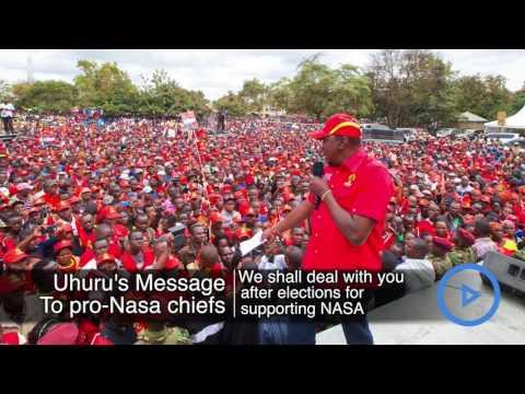 Uhuru's warning to pro NASA chiefs