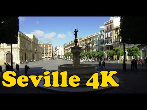 Walk around Seville Spain 4K. Plaza de España - Catedral de Sevilla - Maestranza.