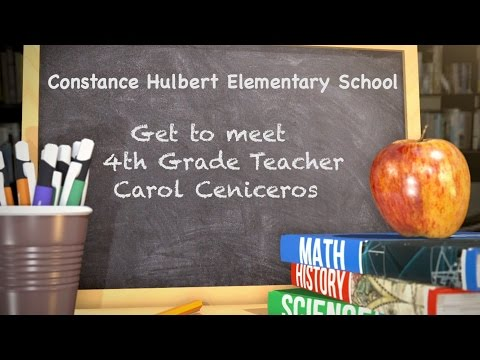 Get To Meet Teacher Carol Ceniceros from Constance Hulbert Elementary School