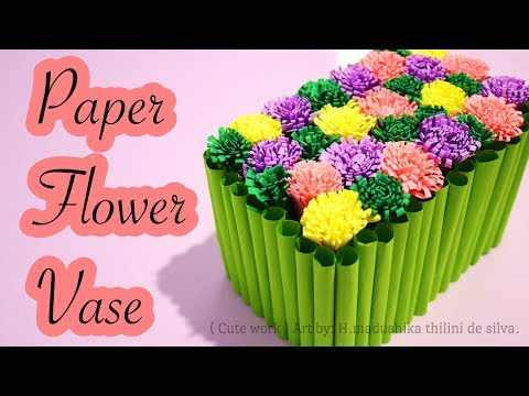 DIY Paper Flower Vase / Easy Hand Work Crafts