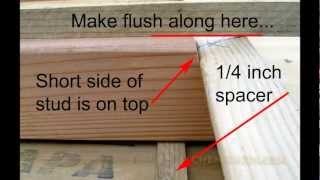 How To Build Side Walls For Your Garden Shed Video