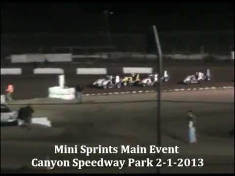 Mini Sprints Main Event Canyon Speedway Park 2-1-2013