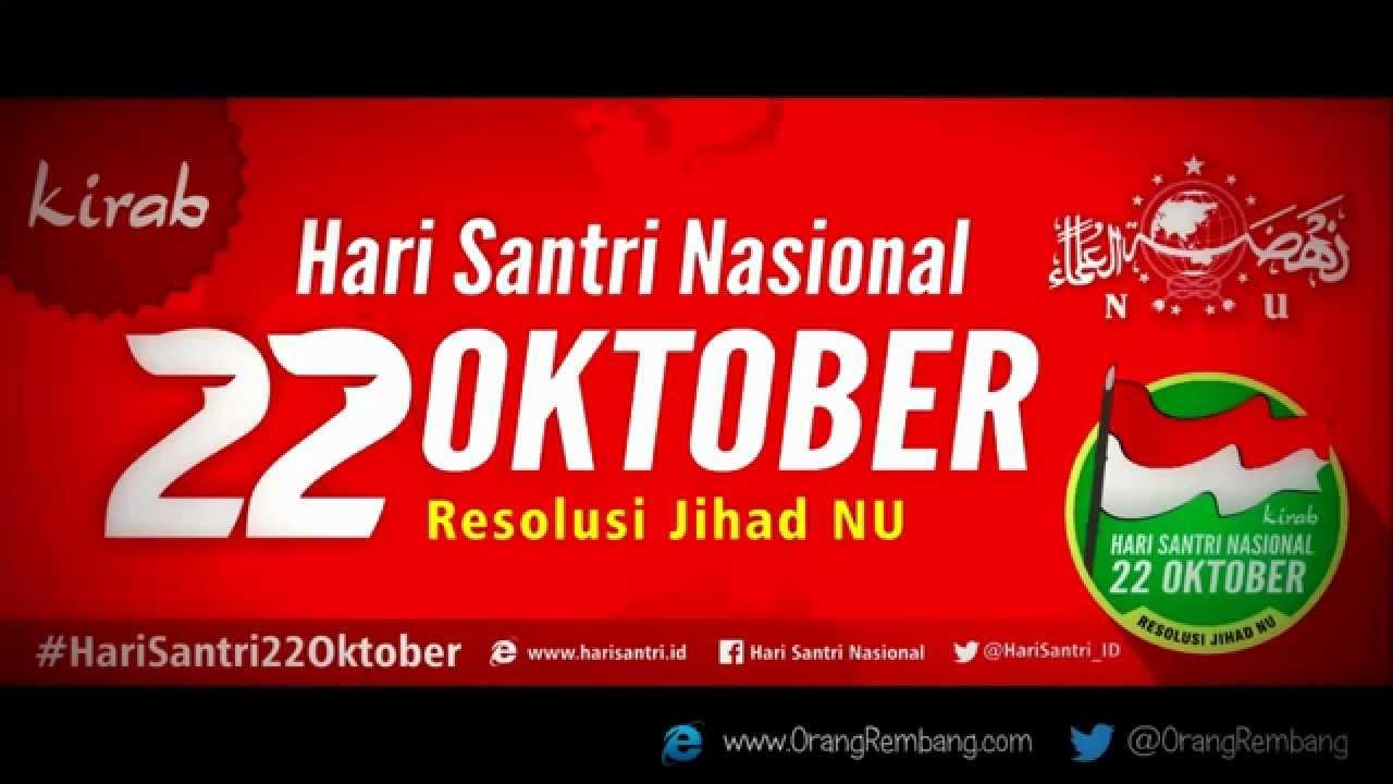 Bahasa Arabnya Selamat Hari Santri Nasional Selamat Hari Santri Nasional 22 Oktober 2015 Youtube