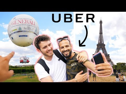 TAKING MY UBER DRIVER ON A HOT AIR BALLOON!