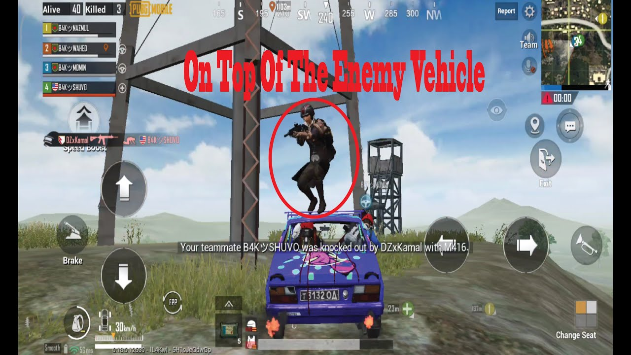On Top Of The Enemy Vehicle || PUBG RUSH GAMEPLAY || B4K GAMING