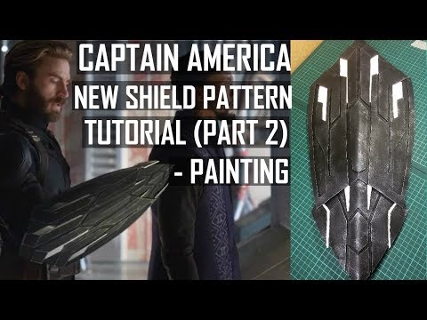 Captain America New Shield Infinity War. How to make. Tutorial + Pattern (PART 2) Painting.