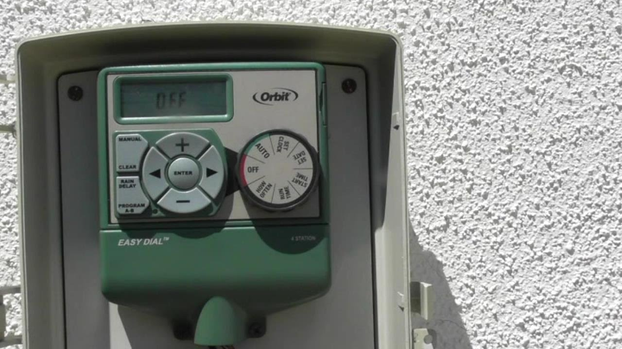 Orbit 4 Station Easy Dial Electrical Sprinkler Timer Model 57874 Installation Review Youtube