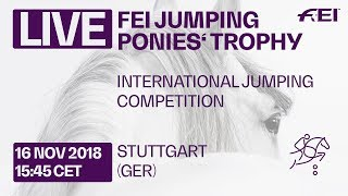 LIVE 🔴 | FEI Jumping Ponies' Trophy |Stuttgart | Warm Up Competition