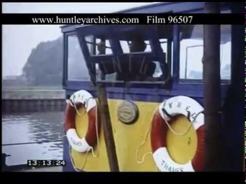 Cargo Barge At Newark, 1950s - Film 96507