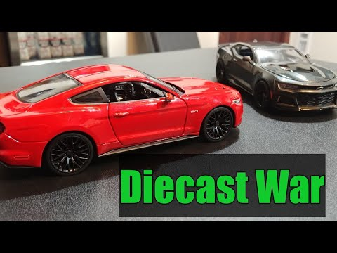 DIECAST UNBOXING - Mustang Gt - Camaro Zl1 review - Maisto 1/24 Scale Assembly Line