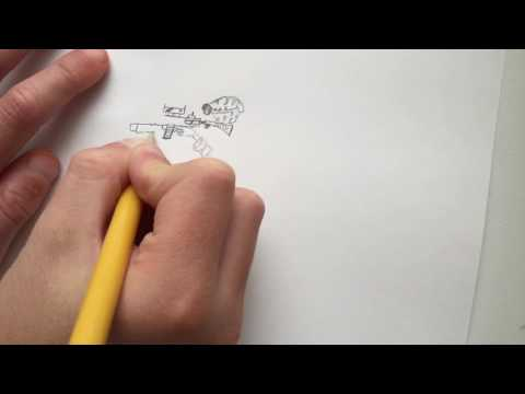 How to draw a U.S. MARINE