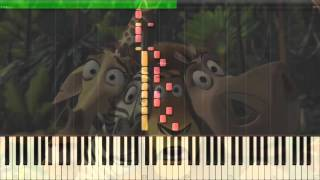 madagascar theme zooster breakout piano synthesia