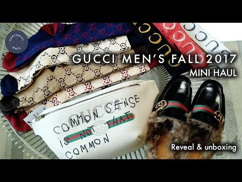 e3271624335b Gucci Mini-Haul Men's Fall 2017: Coco Capitán Belt Bag, Furry Princetown,  Logo Headbands, GG Socks