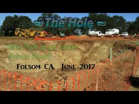 Bike path under Prison Road, Folsom, California: Construction