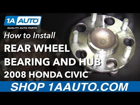 How to Replace Rear Wheel Bearing Hub Assembly 06-12 Honda Civic