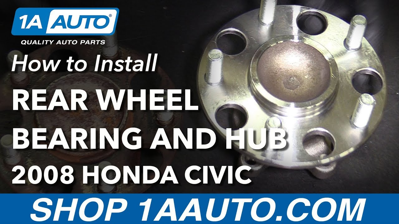 hight resolution of how to replace rear wheel bearing hub assembly 06 12 honda civic