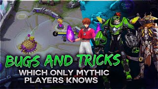 Tricks and Bugs Only Mythic Players Know | ML Bugs | Mobile Legends Bang Bang |-