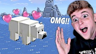 I Traveled And Found A RARE POLAR BEAR In Minecraft.. (Part 12)