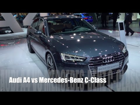 audi a4 2016 vs mercedes-benz c-class 2016 - youtube