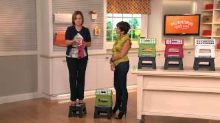 Kikkerland Set Of 2 Easy-fold And Easy-store Step Stools With Pat James-dementri