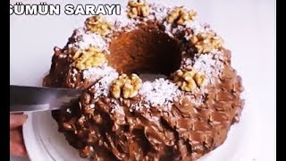 Sünger Gibi Yumuşak Çikolatalı Tarcinli Cevizli Havuclu Kek Tarifi - Gülsümün Sarayi
