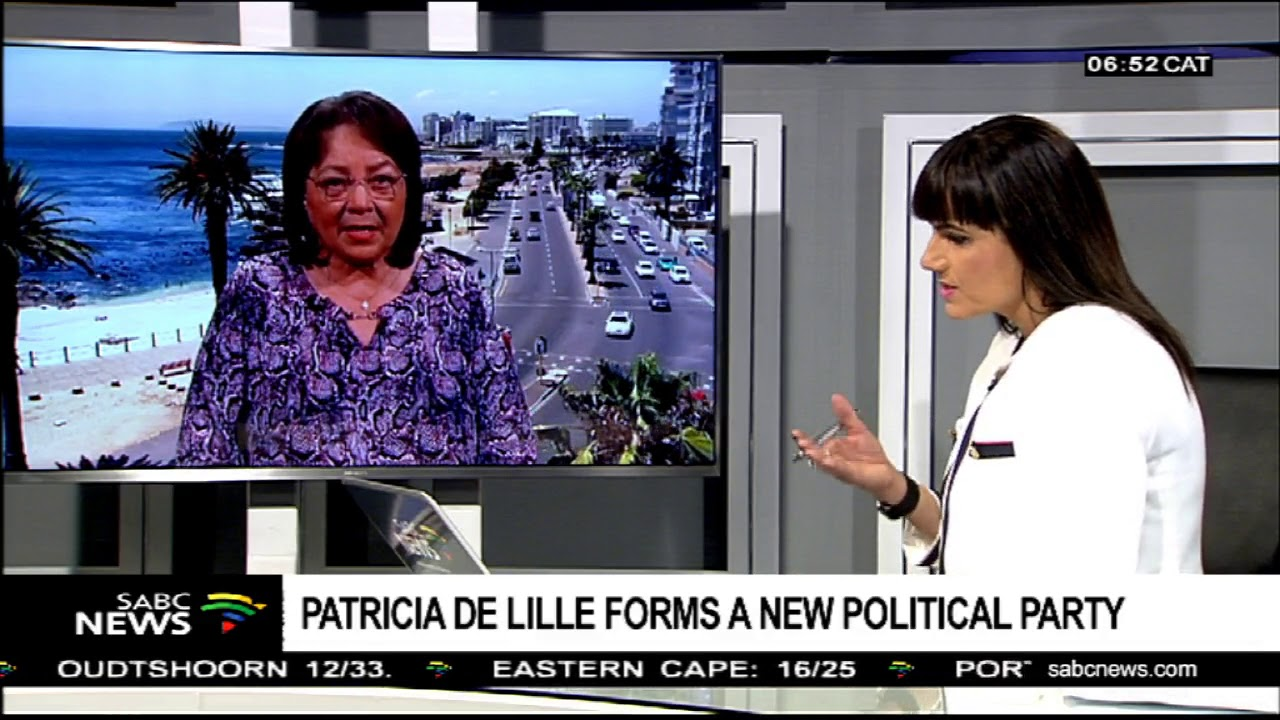 Patricia de Lille forms a new political party