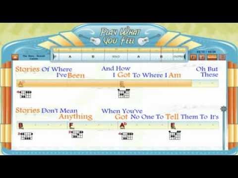 The Story - Brandi Carlile - Chords & Lyrics, Lesson, Guitaraoke - playwhatyoufeel.com