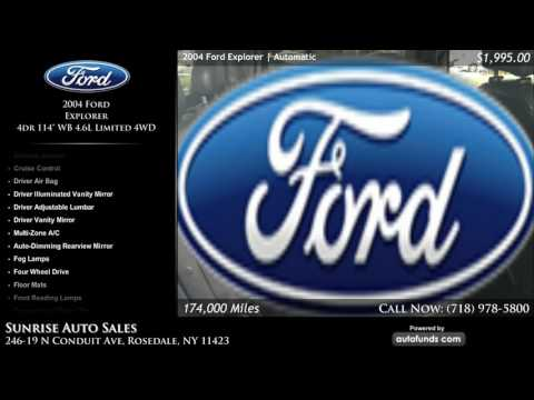 Used 2004 Ford Explorer | Sunrise Auto Sales, Rosedale, NY - SOLD