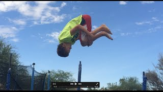 How To Do A Fronтflip On A Trampoline For Beginners !